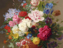 Still Life of Flowers in a Terracotta Vase