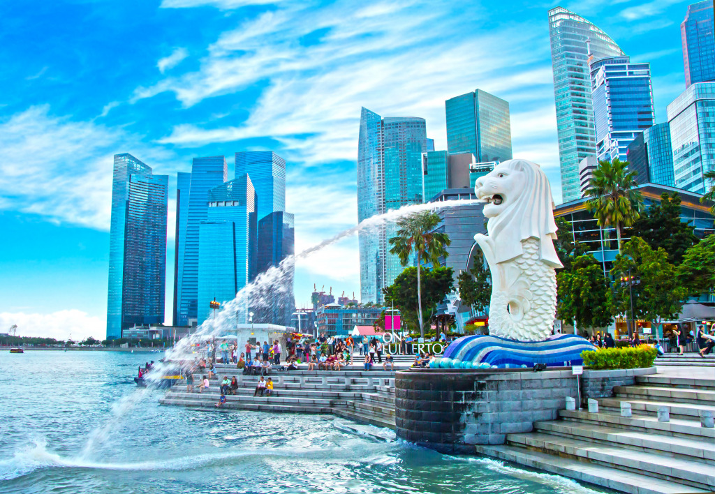 The Merlion Fountain In Singapore Jigsaw Puzzle In Puzzle Of The Day Puzzles On