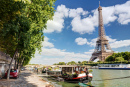 River Seine with the Eiffel Tower
