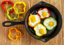Fried Eggs and Bell Peppers