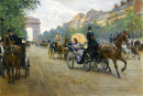 Scene On the Champs-Élysées