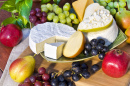 Cheese Plate with Grapes and Pears