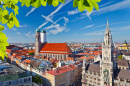 Marienplatz and New Town Hall in Munich