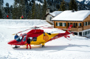 Rescue Helicopter in Austrian Alps
