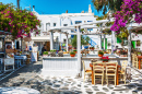 Greek Tavern in Mykonos Island
