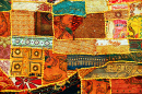 Indian Patchwork Carpet in Rajasthan
