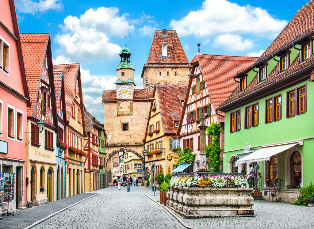 rothenburg ob der tauber bavaria jigsaw puzzle in puzzle of the day puzzles on. Black Bedroom Furniture Sets. Home Design Ideas