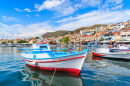 Greek Fishing Boat in Pythagorion Port