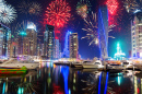 New Year Fireworks in Dubai