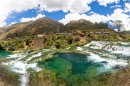 Waterfalls in Peruvian Andes