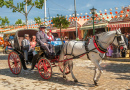 Parade of Carriages in Seville, Spain