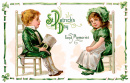 St. Patrick's Day Vintage Greeting Card