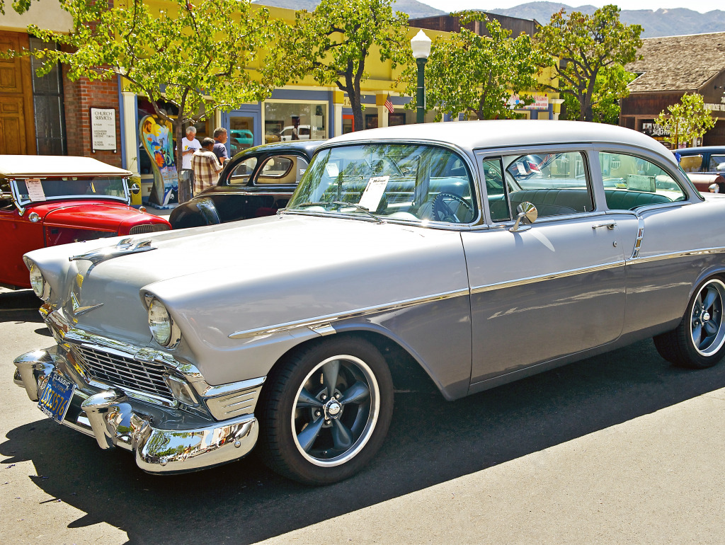 All Chevy chevy 210 : 1956 Chevy 210, Montrose Car Show jigsaw puzzle in Puzzle of the ...