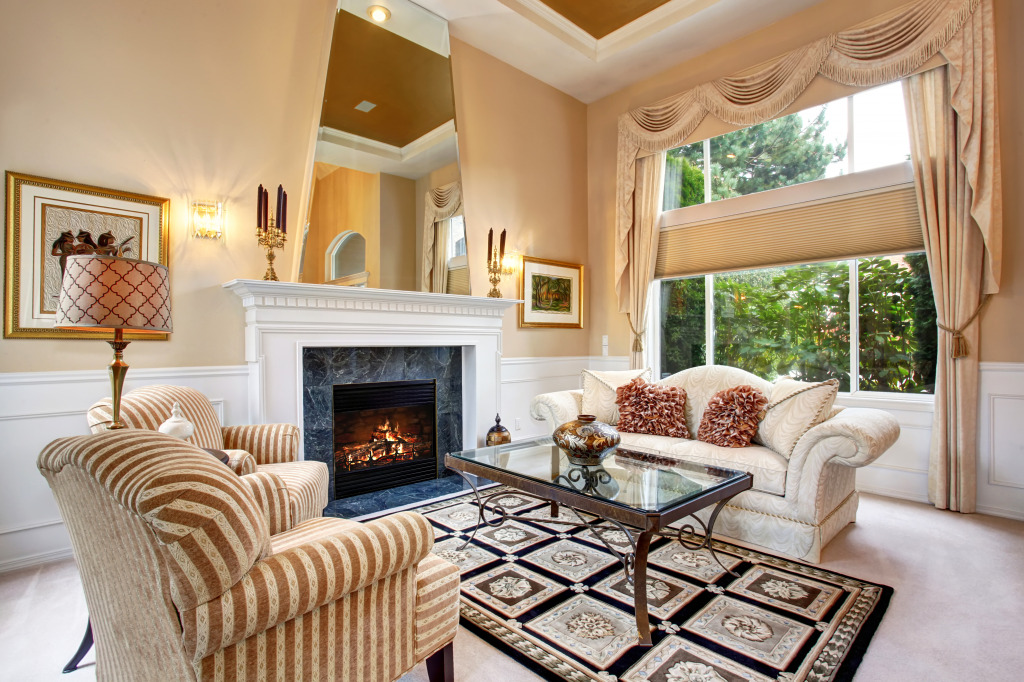 Luxurious Living Room Jigsaw Puzzle In Puzzle Of The Day Puzzles On
