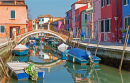 Canals of Burano Island, Venice