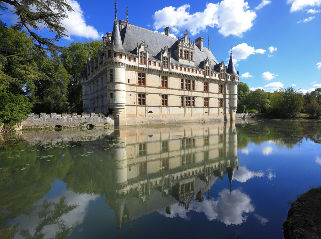 chateau d 39 azay le rideau france jigsaw puzzle in castles puzzles on. Black Bedroom Furniture Sets. Home Design Ideas