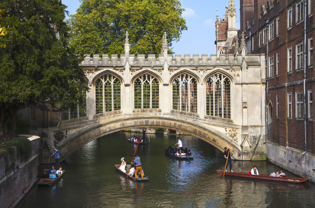 Bridge Of Sighs In Cambridge Uk Jigsaw Puzzle In Bridges