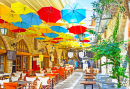 Street Cafe in Limassol, Cyprus