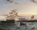 US Frigate and Privateer