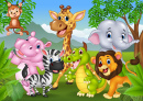 Happy Animals in the Jungle