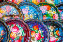 Floral Painted Metal Trays, Moscow