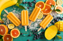 Mango Banana Popsicles