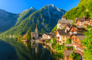 Hallstatt Mountain Village, Austrian Alps
