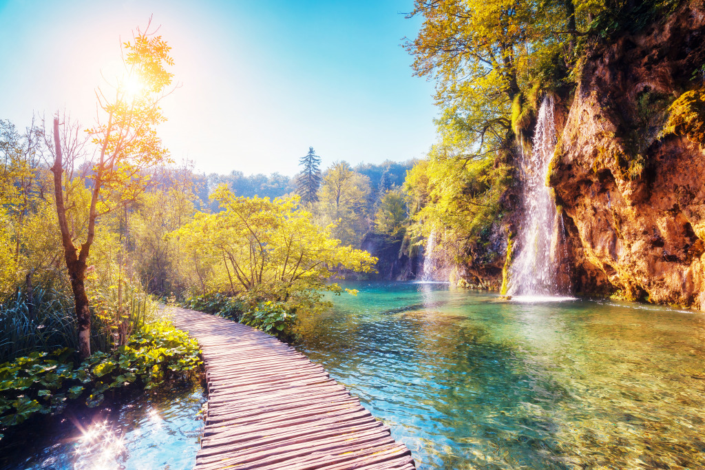 Plitvice Lakes National Park Croatia Jigsaw Puzzle In