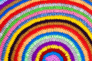 Multicolor Crocheted Rug