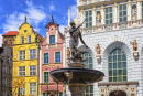 Neptune's Fountain, Gdansk, Poland