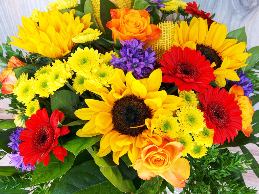 Bunch Of Flowers Jigsaw Puzzle In Puzzle Of The Day Puzzles On Thejigsawpuzzles Com
