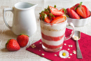 Yogurt Dessert with Strawberries