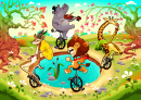 Animals on Unicycles