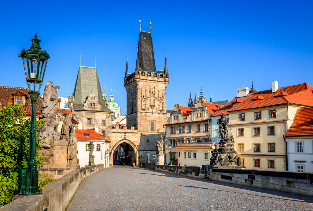 Charles bridge prague czech republic jigsaw puzzle in for Europe hotel prague