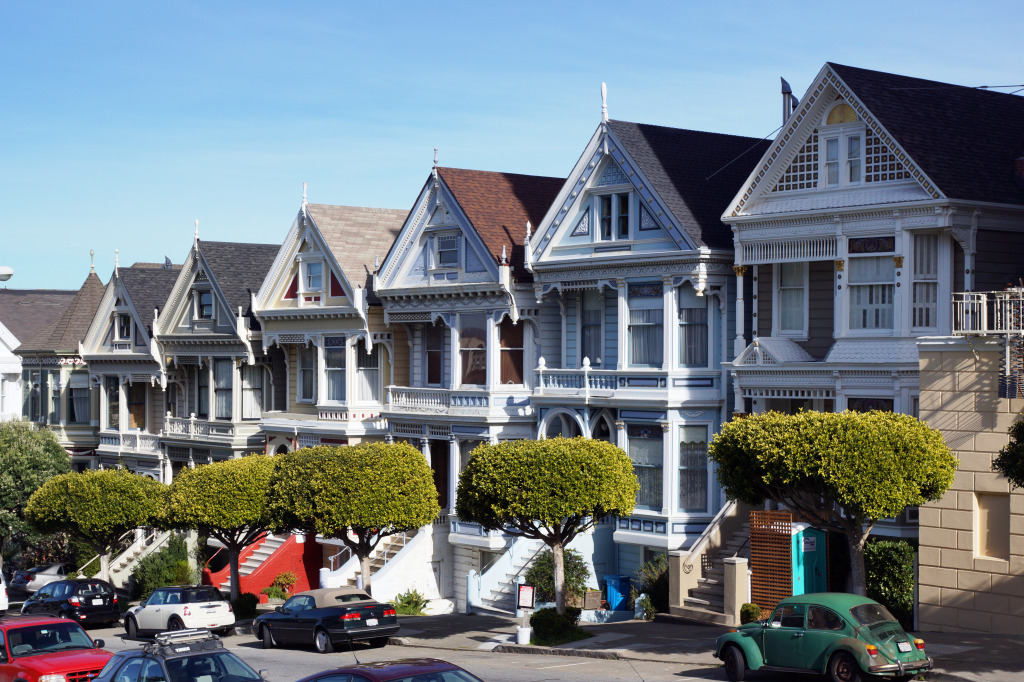 Painted Ladies San Francisco Jigsaw Puzzle In Street View