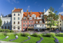 Central Square in Old Riga City, Latvia