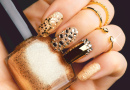 Golden Nail Art