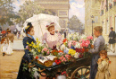 The Flower Seller on the Champs Elysees