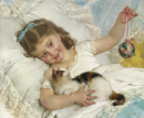 Young Girl and a Cat