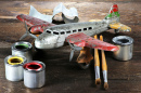 Antique Tin Toy Plane