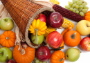 Autumn Arrangement in a Cornucopia