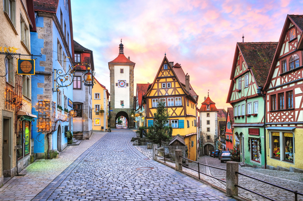 rothenburg ob der tauber germany jigsaw puzzle in street view puzzles on. Black Bedroom Furniture Sets. Home Design Ideas