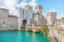 Scaliger Castle on Lake Garda, Italy