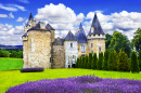 Medieval Castle with Lavender Fields