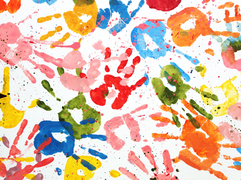 Kids Handprints Jigsaw Puzzle In Puzzle Of The Day Puzzles