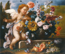 Still Life of Flowers with a Putto