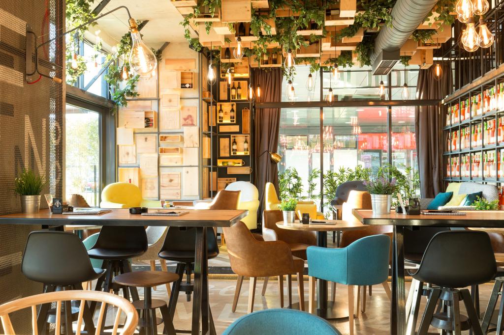 Modern urban restaurant jigsaw puzzle in puzzle of the day for Arredamento ristorante design