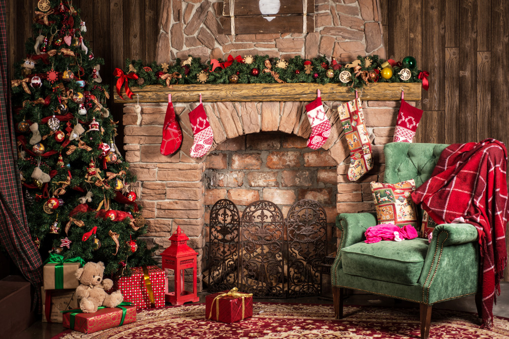 Christmas Scene.Christmas Scene Jigsaw Puzzle In Puzzle Of The Day Puzzles