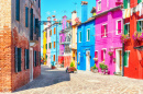 Old Houses in Burano, Italy