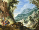 An Extensive Landscape with Archangel Raphael